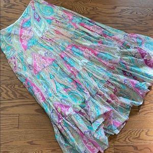 Lauren Ralf Lauren Spring Full Skirt Sz S